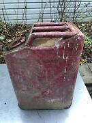 Vtg Willys Jeep Gas Can Metal Army Military Vietnam Oil Usmc Truck 4x4