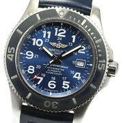 Breitling Super Ocean Ii A17392 Navy Dial Automatic Menand039s Watch_624352