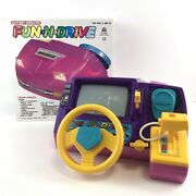 New Vtg 1988 Fun To Drive Dashboard Racing Driving Game Simulated Girl Pink Rare