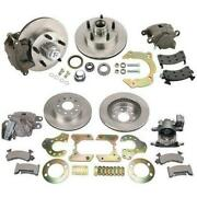 Bolt-on Front/rear Disc Brake Kit For Chevy Spindle/9 Ford, 5 On 4.5 Bp