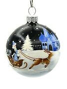 Patricia Breen Beguiling Orb Cold Cold Night Christmas Holiday Tree Ornament