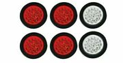 4 18 Led Round Stop Turn Tail Backup Reverse Truck Lights 4 Red And 2 White