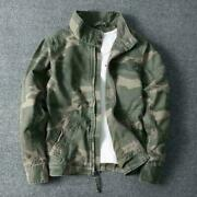 Mens Camouflage Combat Jackets Military Pockets Army Coats Stand Collar Fashion