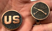 Wwi Us Army Infantry Tunic Jacket Us And Crossed Rifles Collar Disc Set