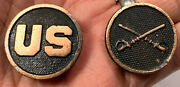 Wwi Us Army Cavalry Tunic Jacket Us And Crossed Sabers Collar Disc Set