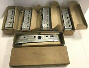 Vintage 1930and039s Art Deco American Flyer 9900 Aluminum Zephyr 5 Trins In Boxes