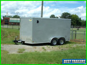 2021 Covered Wagon 7 X 14 Barn Door New Enclosed Work Construction Trailer Cargo