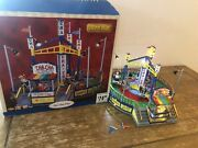 Lemax The Village Collection The Cha Cha Carnival Fair Ride With Box Needs Tlc