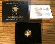 2021-w American Eagle 1/10 Ounce Gold Proof New Reverse-type-2 21een-in Stock