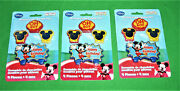 3 Pks Disney Mickey Mouse Clubhouse Molded Birthday Cake Candle Sets New