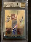 07-08 Topps Trademark Moves David Robinson / Shaquille Oandrsquoneal Oden Auto /3 Bgs 9