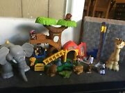 Fisher Price Little People Big Animal Zoo Lot With Giraffe And Extra Animals