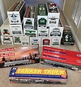 Hess Truck Lot Of 15 1980 1993 2002-2014 Toy Tanker Trucks Collectors Edition