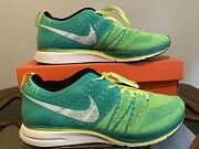 Nike Flyknit Trainer+ Volt White Atomic Teal 2013 - Us Men's 11 Pre-owned
