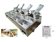 Commercial Food Warmer Steam Table Countertop 12 Pots Soup Station Food Holding