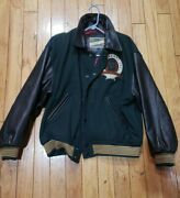 Vintage Og 80andrsquos Guess Georges Marciano Letterman Varsity Leather Jacket