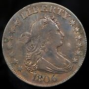 1806 Draped Bust Quarter -- Xf Details Condition