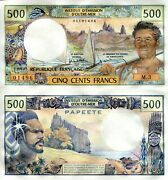 Tahiti 500 Francs Banknote World Aun Paper Money Currency Pick P25d 1985 Papeete
