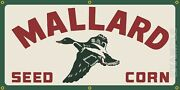 Mallard Seed Corn Feed Store Roadside Old Sign Remake Banner Size Options