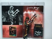 Jimmy Page Signed Autograph Led Zeppelin Photo Card And Collectible Figure  Loa