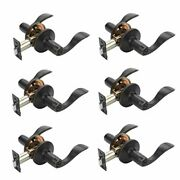 Dynasty Hardware Heritage Door Lever Privacy Set Aged Oil Rubbed Bronze Contr...