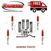 Rancho Lift Kit 3-3.5 Front And 2.5 Rear Sport Suspension For Jeep Wrangler