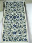 24 X 48 Inches Marble Coffee Table Top Inlay Lapis Lazuli Stone Work Hall Table