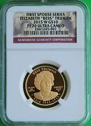 Perfect And Rare 2015 W And039bessand039 Truman First Spouse 1/2 Oz Gold Ngc Pf 70 Ucam