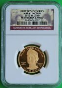 Perfect And Rare 2010 W Mary Lincoln Spouse 1/2 Oz. 99.9 Gold Ngc Pf 70 Ucam