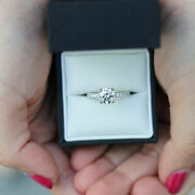 Solid 14k White Gold 0.65 Ct Natural Diamond Engagement Ring For Women Size 7 8