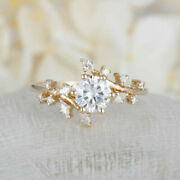 Beautiful 0.70 Ct Natural Diamond Engagement Ring Solid 14k Yellow Gold Size 6 7