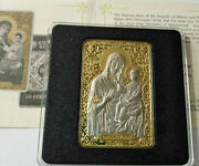 Belarus 20 Rubles 2012 Icon Of The Most Holy Theotokos Of Barkalaba Ag Gold №3