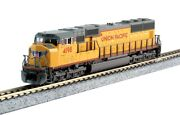 Kato N Scale Up Union Pacific Emd Sd70m 4198 Flat Radiator Dc New 176-7608