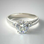 Beautiful 0.66 Ct Natural Diamond Engagement Ring Solid 14k White Gold Size 6 7