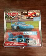 Disney Pixar Cars The King Dinoco With Pit Stop Barrier 155 Very Rare
