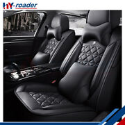 Car Seat Covers For Dodge Chevy Trucks W/pillows Full Set 5-seats Front And Rear