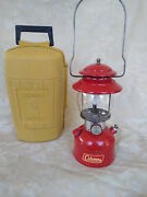 Red Coleman 200a Single Mantle Lantern W/ Yellow Clamshell Case Dated March 1967