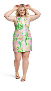Nwt Lilly Pulitzer For Target Shift Dress Fan Dance Flamingo 20w Plus Size Rare