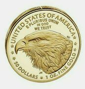 2021-w 1 Oz New Design Am Eagle Gold Proof Coin 21ebn Sold Out Unopened