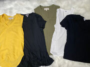 Anthropologie Lot Of 5 Tanks And Tees Cloth And Stone Paige Chelsea 28 Splendid