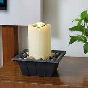Indoor Fountain Water Feature With Lights Plastic Statues Home Decoration