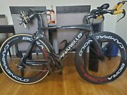 Full Carbon Triathlon Bike. Small Size Between 48 - 52 Cms Height