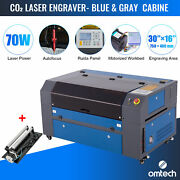 Omtech 70w 16x30 In. Co2 Laser Engraver Machine With Autofocus And Rotary Axis A