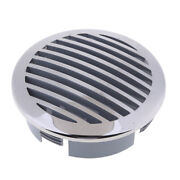 1x Round Louvered Vent - Marine Boat Air Vent 316 Stainless Steel Caravan Vents
