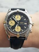 Breitling Watch Chronomat 81950 Automatic 7750 Gold And Steel Mens 40mm Swiss Made