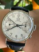 Chronograph Watch Super Royal Manual Mens 35.5mm Just Serviced Swiss Made