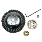Heavy Duty Steal Wire Brush Cutter Trimmer Head W/adapter Set For Lawn Mower