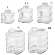 Leak-proof Square Plastic Large Water Bottle Carrier Jug With Handle Camping