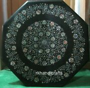 36 Inches Exclusive Inlay Art Side Table Top Marble Coffee Table Home Assents