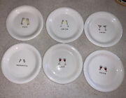 Williams Sonoma Set Of 6 Appetizer Canapandeacute Plates 6andrdquo - Cheers Series